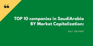 TOP 10 companies in Saudi Arabia BY Market Capitalization: